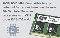 compatible to any notebook/ultrabook based on the new 5th Gen Intel Broadwell processors with CPU codes i3/i5/i7-5xxxU